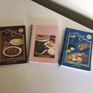 Set of 3 Company's Coming Vintage recipe books